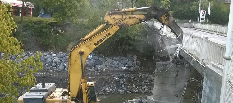 excavadora obras